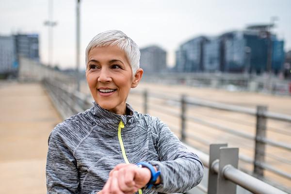 Healthy women running